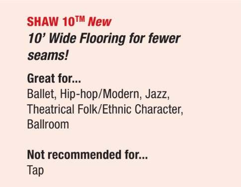 shaw 10 dance floor