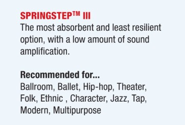Springstep III dance subfloor