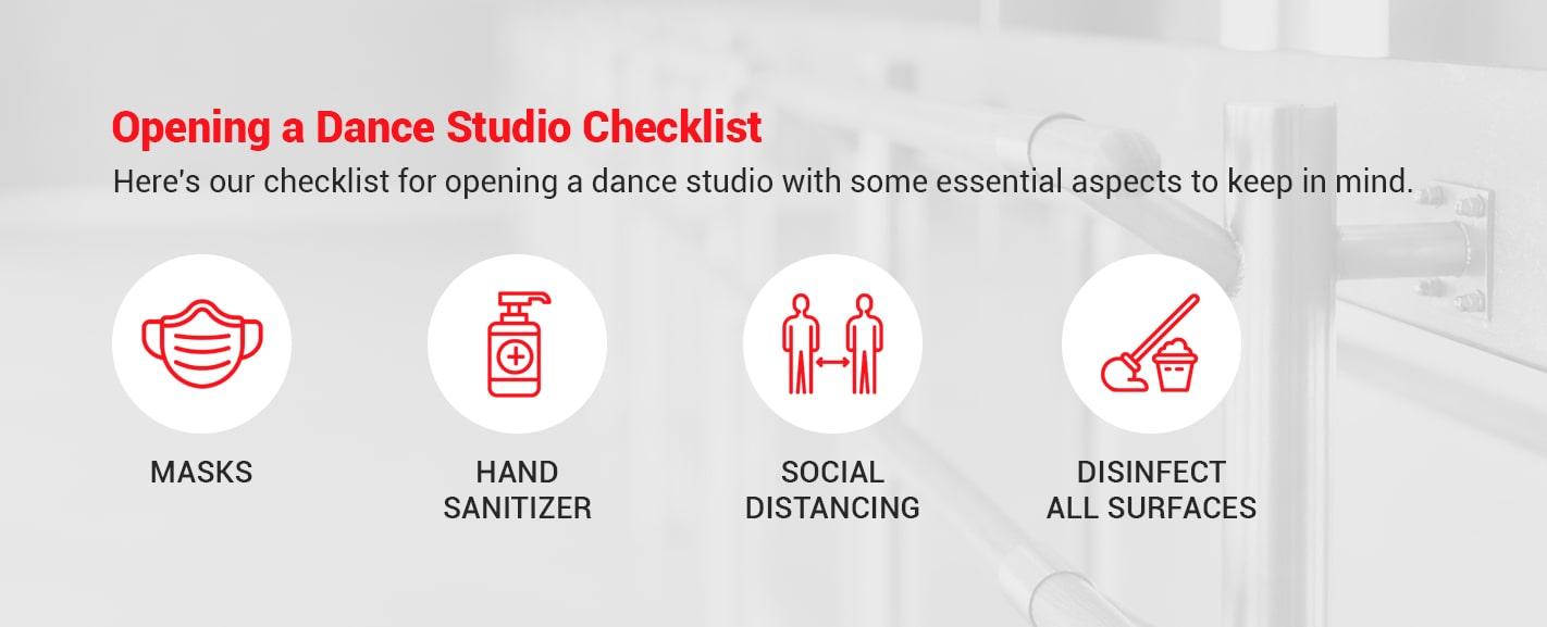 opening a dance studio checklist